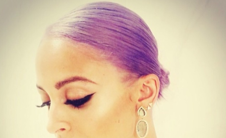 Do you prefer Nicole Richie with purple hair or brown hair?