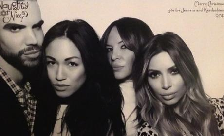 Kim Kardashian with Pals