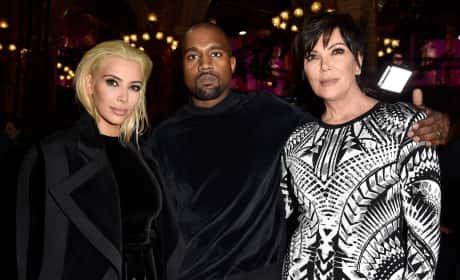 Kim Kardashian, Kanye West and Kris Jenner: Balmain Fall/Winter 2015/2016 Show