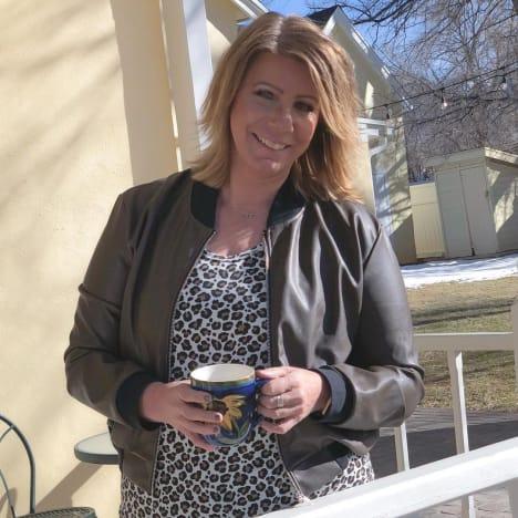Meri Brown with Coffee