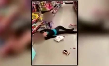 2-Year Old in Dollar Store Tries to Revive Overdosed Mother