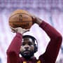 Tristan Thompson Warms Up