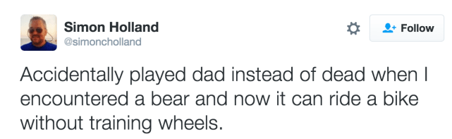 Playing dad