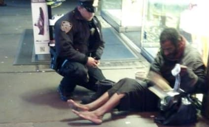 Barefoot Homeless Man Not Homeless After All; Boots From NYPD Officer Already Missing