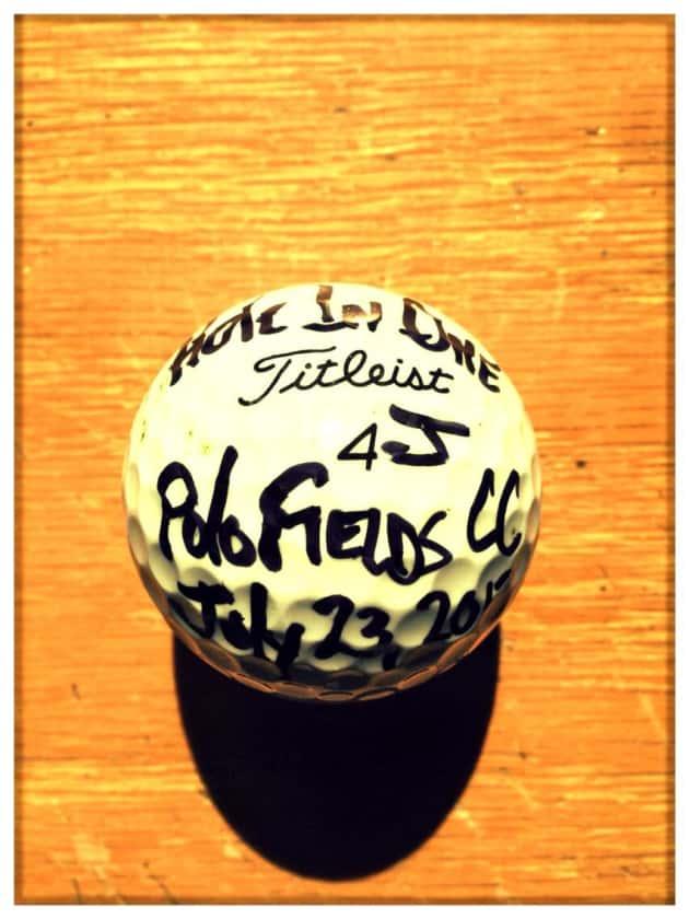 Jeff Daniels Hole in One Golf Ball