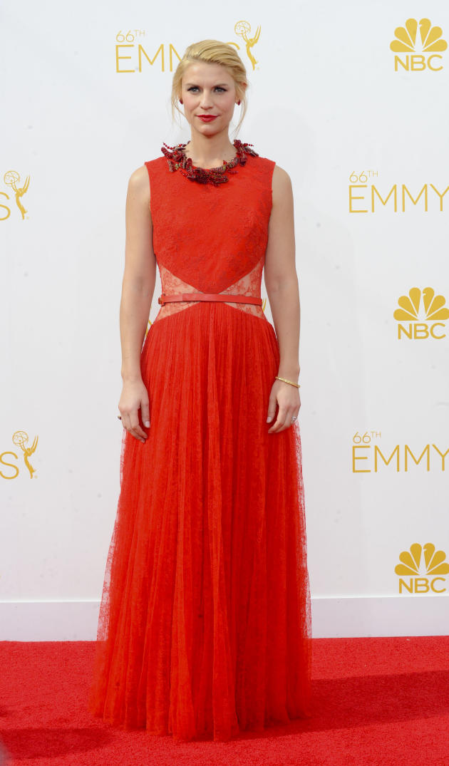 Claire Danes at the 2014 Emmys