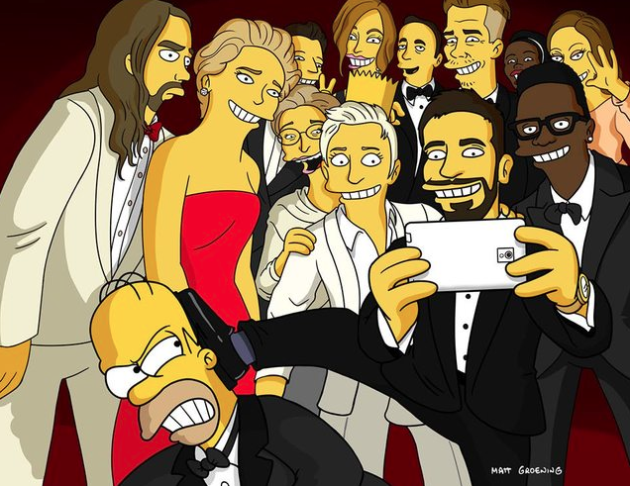 Oscars Selfie with Homer Simpson