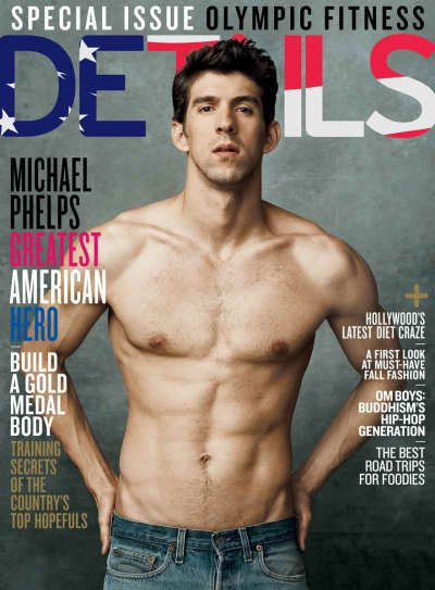 Michael Phelps Details Cover