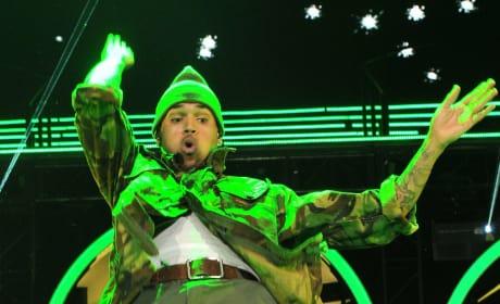 Chris Brown Gyrating