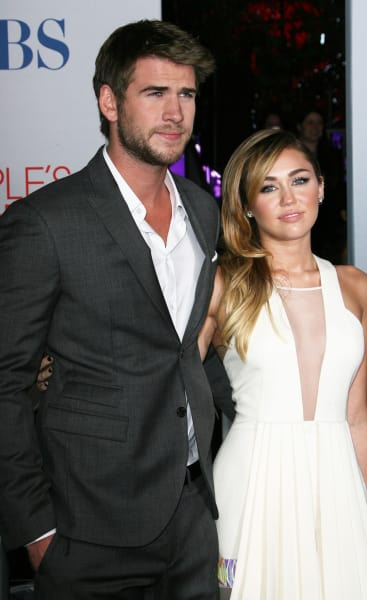 Liam Hemsworth with Miley Cyrus