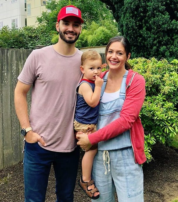Desiree Hartsock, Chris Siegfried, and Son
