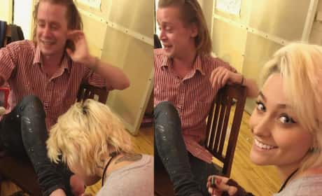 Macaulay Culkin Pedicure