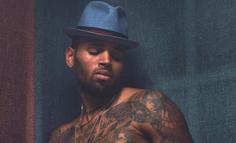 Chris Brown Shirtless, Tattoos