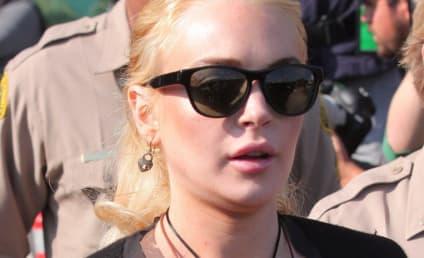 Lindsay Lohan Strategizing With Legal Team