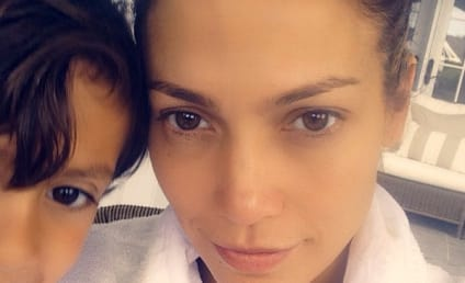 Jennifer Lopez: No Makeup, Photobombed By Son in Cute Instagram Pic!