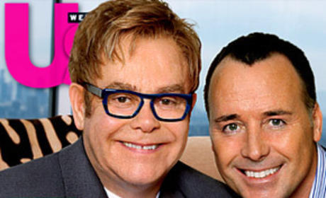 Elton John, David Furnish and Son!