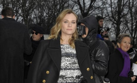 Diane Kruger at Chanel's Show During Paris Fashion Week Haute Couture Spring/Summer 2016