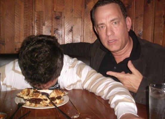 Tom Hanks Drunk Fan Photo