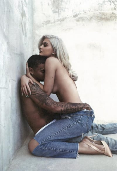 Kylie Jenner and Tyga Topless
