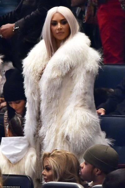 Kim Kardashian at Yeezy Season 3 show