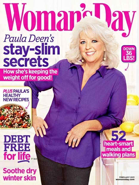 Paula Deen Woman's Day Cover