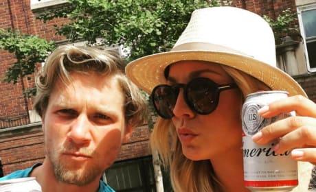 Kaley Cuoco Drinks Budweiser
