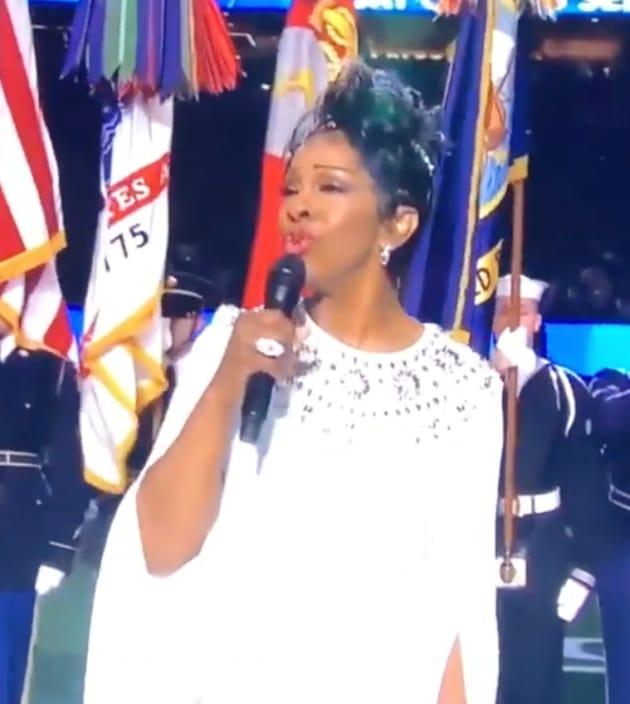 Grade Gladys Knight's National Anthem Performance. - The ...