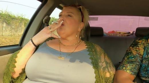 Angela Deem smokes in the car yet again