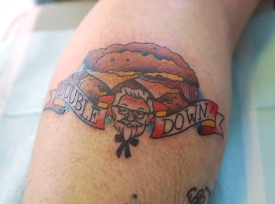 KFC Double Down Tattoo