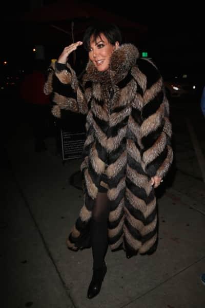 Kris Jenner and Her Coat Celebrate Kyle Richards' Birthday