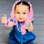 Dream Kardashian in Pink Hair Extensions