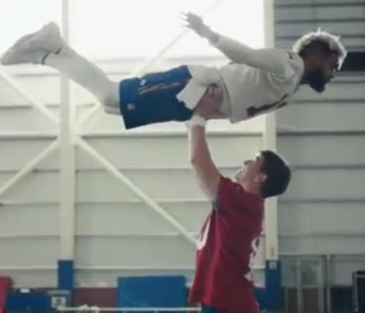 Eli Manning and Odell Beckham Jr. Lift