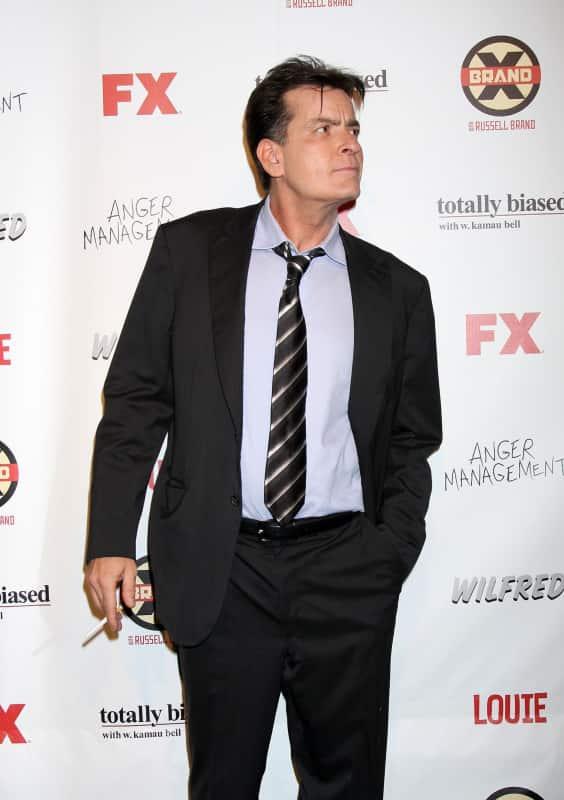 Charlie Sheen on FX Carpet