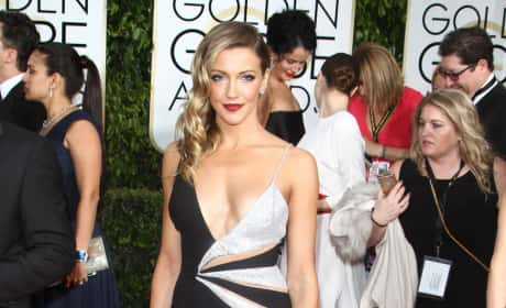 Katie Cassidy at the Golden Globes