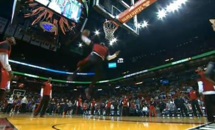 LeBron James Pre-Game Dunk: Hail the King!