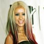 Christina Aguilera Multi-Colored Hair
