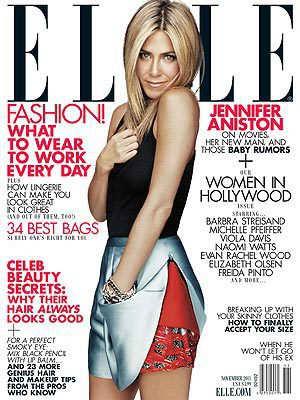 Jennifer Aniston Elle Magazine Cover