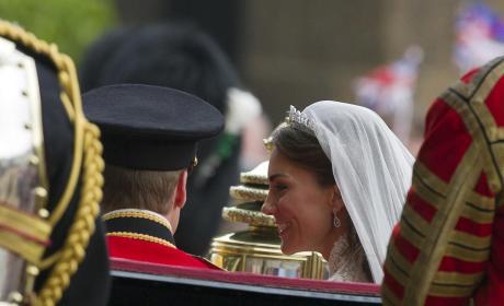 Kate Middleton Smiles At Prince William In The 1902 State Landau