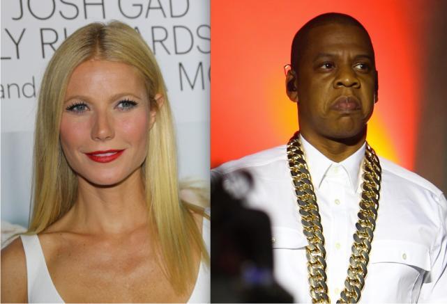 Gwyneth Paltrow and Jay Z