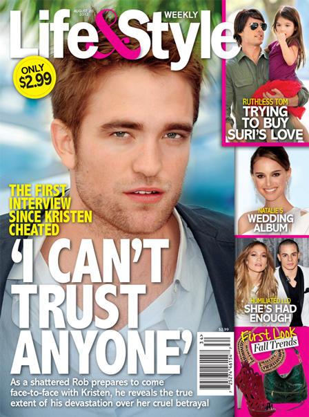 Robert Pattinson Tabloid Cover