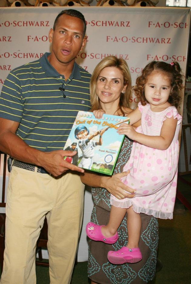 Alex and Cythina Rodriguez with Daughter Natasha