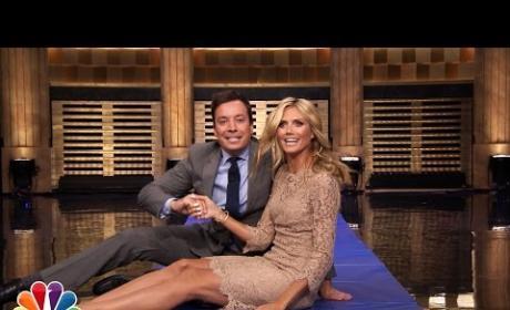 Jimmy Fallon and Heidi Klum Make Human Wheel