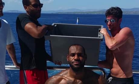 LeBron James Accepts Ice Bucket Challenge