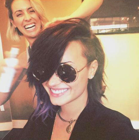 Demi Lovato with Short Hair