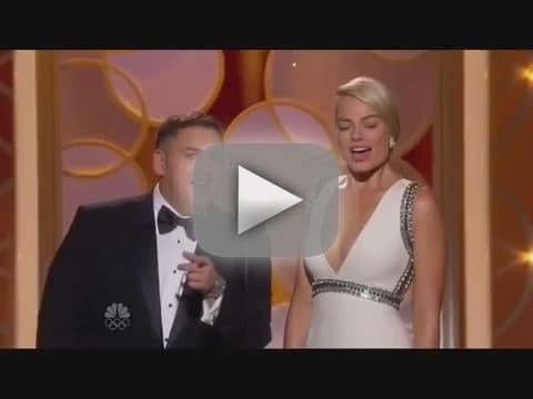 Jonah Hill and Margot Robbie: Teleprompter Flub Alert!