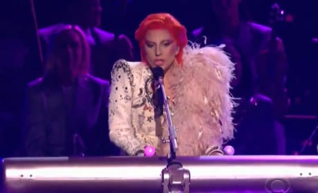 Lady Gaga Pays Tribute to David Bowie at 2016 Grammy Awards