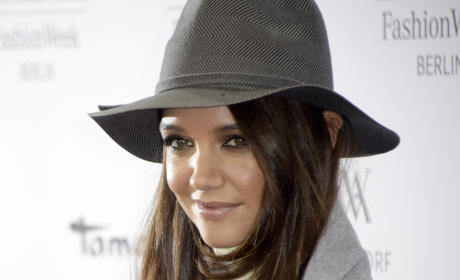Katie Holmes in a Hat