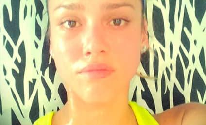 Jessica Alba: Makeup-Free and Sweaty!