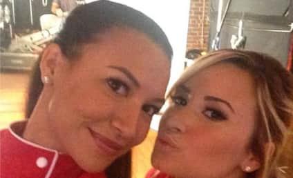 Demi Lovato and Naya Rivera: Pucker Up!