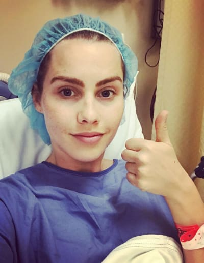 Claire Holt in the Hospital